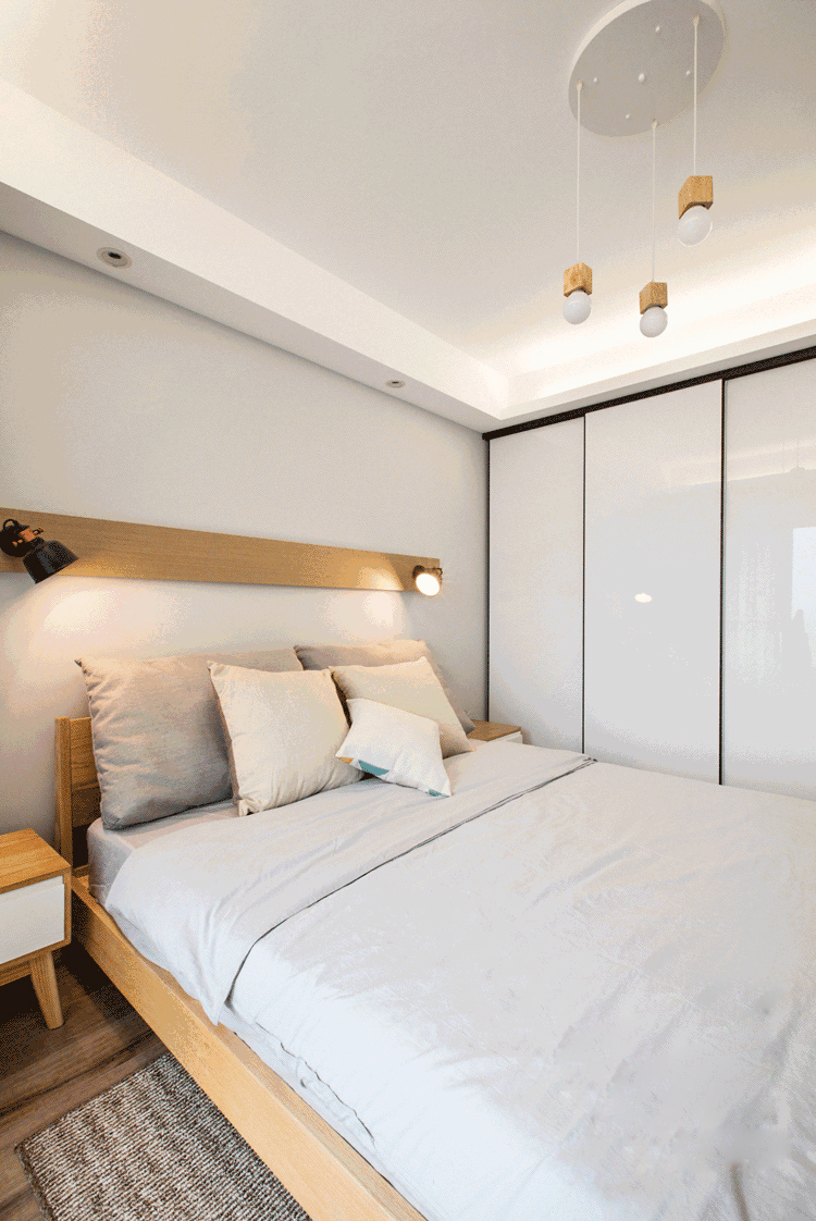 龙湖九里晴川-现代简约-卧室设计效果图
